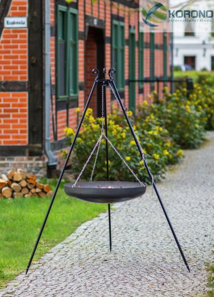 Korono Schwenkgrill - 1,80m incl. WOK/Pfanne (Kessel: WOK-Stahlpfanne Ø 60cm) KOR-SG1-130
