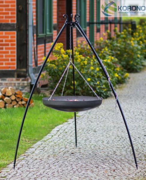 Korono Schwenkgrill – 2,00m incl. WOK/Pfanne (Kessel: WOK-Stahlpfanne Ø 60cm) KOR-SG2-132