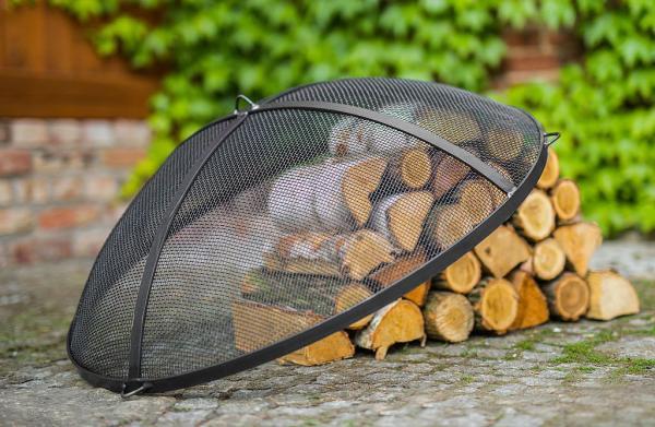 Korono Funkenschutz für Feuerschalen (Größe Funkenschutz: Ø 60cm, ca. 30cm Höhe ) KOR-FS-670